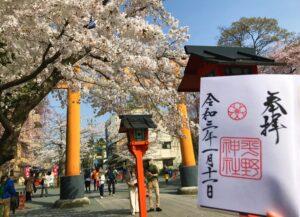 京都 平野神社 桜 御朱印