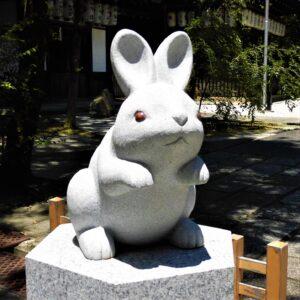 京都 岡崎神社 うさぎ